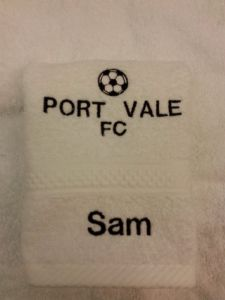 PORT VALE PERSONALISED FACE CLOTH
